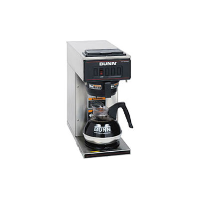 Bunn 13300.0001 - Coffee Brewer, Pourover, Low Profile, 1 Warmer, Stainless Steel, VP17-1,
