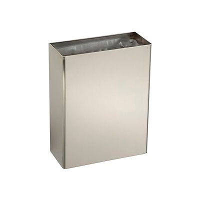 Bobrick® ClassicSeries™ Stainless Steel Wall Mount Trash Can, 6-2/5 Gallon