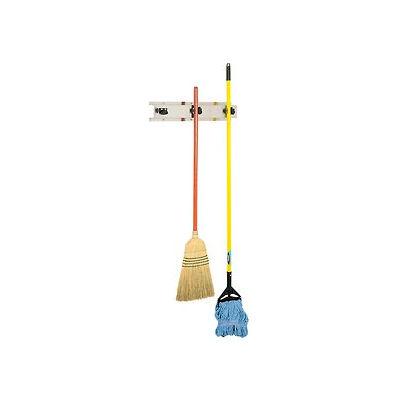 "Bobrick Mop/Broom Holder, Stainless, 24"", 3 Prongs - B223x24"