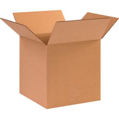 "Global Industrial™ Cube Cardboard Corrugated Boxes, 10""L x 10""W x 10""H, Kraft - Pkg Qty 25"
