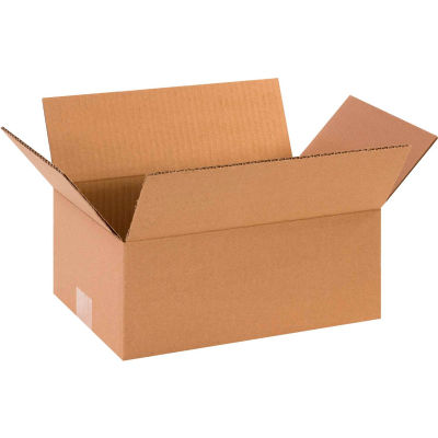 "Flat Cardboard Corrugated Boxes 10"" x 6"" x 3"" 200#/ECT-32 - Pkg Qty 25"