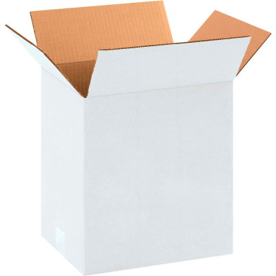 "Cardboard Corrugated Boxes 11-1/4"" x 8-3/4"" x 12"" 200#/ECT-32, White - Pkg Qty 25"