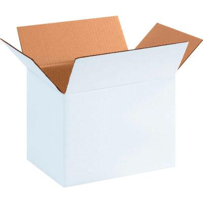 "Cardboard Corrugated Boxes 11-1/4"" x 8-3/4"" x 8"" 200#/ECT-32, White - Pkg Qty 25"