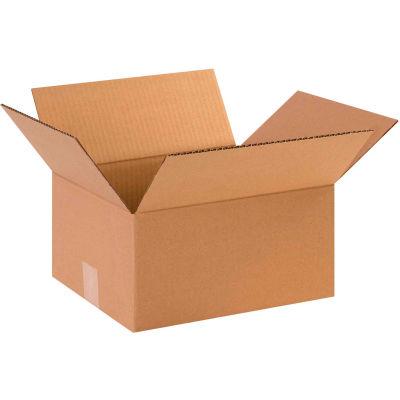 "Cardboard Corrugated Boxes 12"" x 10"" x 6"" 200#/ECT-32 - Pkg Qty 25"