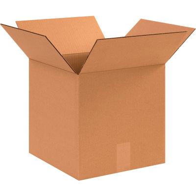 "Cube Cardboard Corrugated Boxes 12"" x 12"" x 12"" 200#/ECT-32 - Pkg Qty 25"
