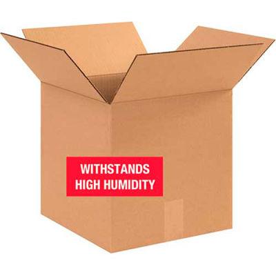 "Weater-Resistant Cardboard Corrugated Boxes 12"" x 12"" x 12"" 350#/V3c - Pkg Qty 20"