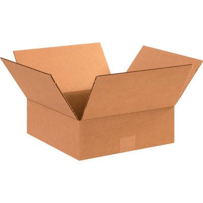 "Flat Cardboard Corrugated Boxes 12"" x 12"" x 4"" 200#/ECT-32 - Pkg Qty 25"