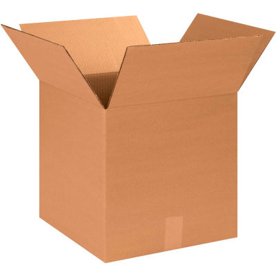 "Cube Cardboard Corrugated Boxes 14"" x 14"" x 14"" 200#/ECT-32 - Pkg Qty 25"