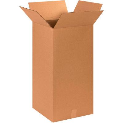 "Tall Cardboard Corrugated Boxes 14"" x 14"" x 30"" 200#/ECT-32 - Pkg Qty 20"