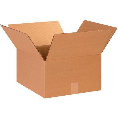 "Cardboard Corrugated Boxes 14"" x 14"" x 8"" 200#/ECT-32 - Pkg Qty 25"
