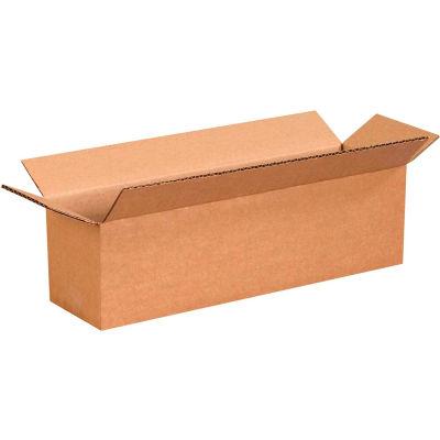 "Long Cardboard Corrugated Boxes 14"" x 4"" x 4"" 200#/ECT-32 - Pkg Qty 25"
