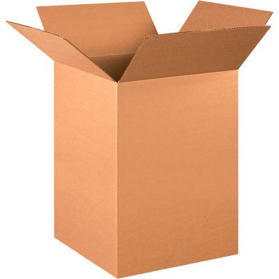 "Tall Cardboard Corrugated Boxes 15"" x 15"" x 24"" 200#/ECT-32 - Pkg Qty 20"