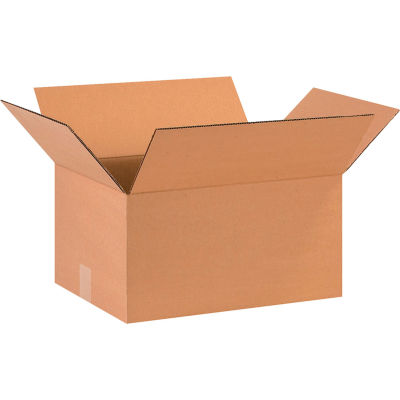 "Cardboard Corrugated Boxes 16"" x 12"" x 8"" 200#/ECT-32 - Pkg Qty 25"