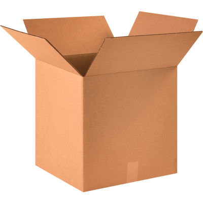 "Cube Cardboard Corrugated Boxes 16"" x 16"" x 16"" 200#/ECT-32 - Pkg Qty 25"