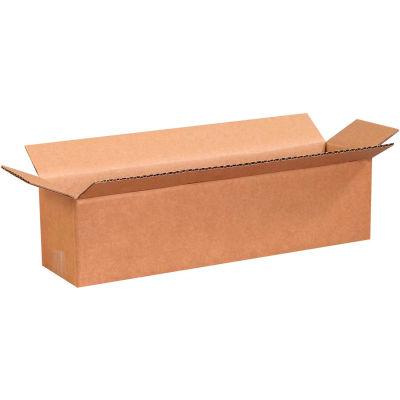 "Long Cardboard Corrugated Boxes 16"" x 4"" x 4"" 200#/ECT-32 - Pkg Qty 25"
