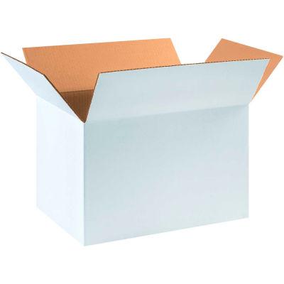 "Cardboard Corrugated Boxes 18"" x 12"" x 12"" 200#/ECT-32, White - Pkg Qty 25"