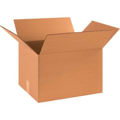 "Global Industrial™ Cardboard Corrugated Boxes, 18""L x 14""W x 12""H, Kraft - Pkg Qty 25"