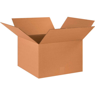 "Cardboard Corrugated Boxes 18"" x 18"" x 12"" 200#/ECT-32 - Pkg Qty 20"