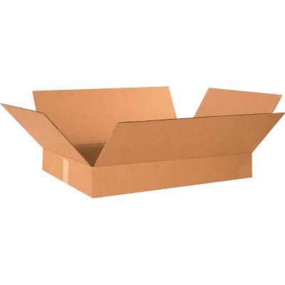 "Flat Cardboard Corrugated Boxes 19"" x 12"" x 3"" 200#/ECT-32 - Pkg Qty 25"