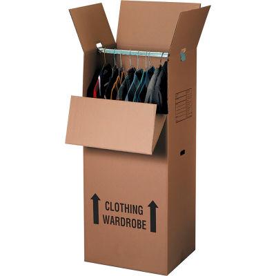"Wardrobe Packing Cardboard Corrugated Boxes 20"" x 20"" x 45"" 275#/ECT-48 - Pkg Qty 5"