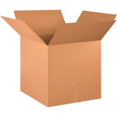 "Cube Cardboard Corrugated Boxes 21"" x 21"" x 21"" 200#/ECT-32 - Pkg Qty 15"