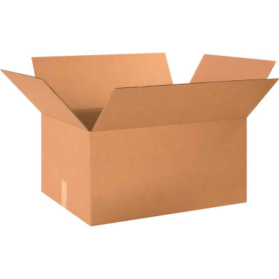 "Cardboard Corrugated Boxes 24"" x 18"" x 12"" 200#/ECT-32 - Pkg Qty 20"