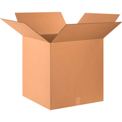 "Cube Cardboard Corrugated Boxes 24"" x 24"" x 24"" 200#/ECT-32 - Pkg Qty 15"
