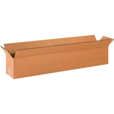 "Long Cardboard Corrugated Boxes 24"" x 4"" x 4"" 200#/ECT-32 - Pkg Qty 25"