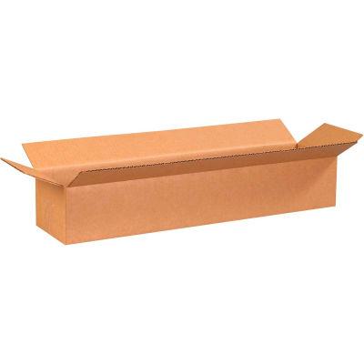 "Long Cardboard Corrugated Boxes 24"" x 6"" x 4"" 200#/ECT-32 - Pkg Qty 25"