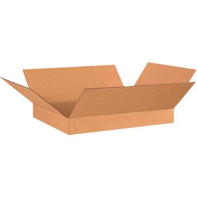 "Flat Cardboard Corrugated Boxes 26"" x 20"" x 4"" 200#/ECT-32 - Pkg Qty 20"