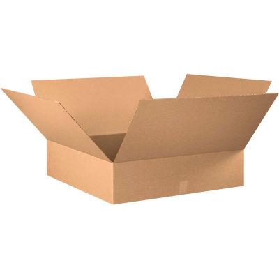 "Flat Cardboard Corrugated Boxes 28"" x 28"" x 8"" 200#/ECT-32 - Pkg Qty 10"
