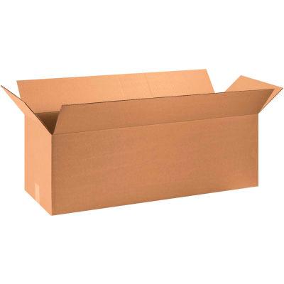 "Long Cardboard Corrugated Boxes 40"" x 12"" x 12"" 200#/ECT-32 - Pkg Qty 15"
