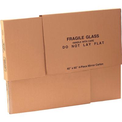 """Mirrors Boxes 40"""" x 3-1/2"""" x 60"""" 200#/ECT-32 - Four 40"""" x 60"""" Pieces per Set - Pkg Qty 4"""