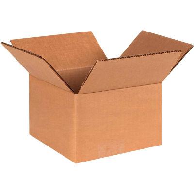 "Cardboard Corrugated Boxes 4"" x 4"" x 3"" 200#/ECT-32 - Pkg Qty 25"