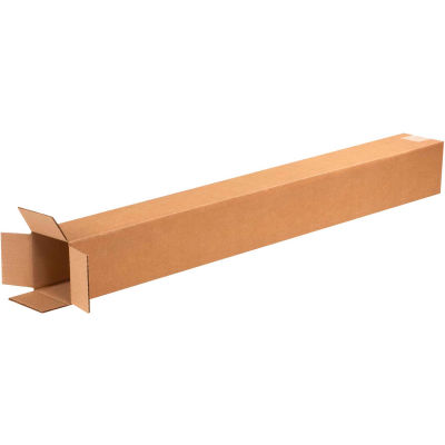 "Tall Cardboard Corrugated Boxes 4"" x 4"" x 36"" 200#/ECT-32 - Pkg Qty 25"