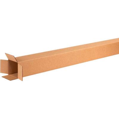 "Tall Cardboard Corrugated Boxes 4"" x 4"" x 60"" 200#/ECT-32 - Pkg Qty 25"