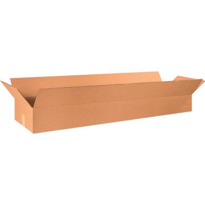 "Long Cardboard Corrugated Boxes 48"" x 12"" x 6"" 200#/ECT-32 - Pkg Qty 20"
