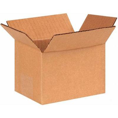 "Cardboard Corrugated Boxes 6"" x 4"" x 4"" 200#/ECT-32 - Pkg Qty 25"