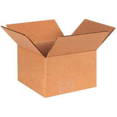 "Global Industrial™ Cardboard Corrugated Boxes, 6""L x 6""W x 4""H, Kraft - Pkg Qty 25"