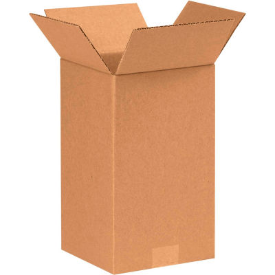 "Tall Cardboard Corrugated Boxes 7"" x 7"" x 12"" 200#/ECT-32 - Pkg Qty 25"