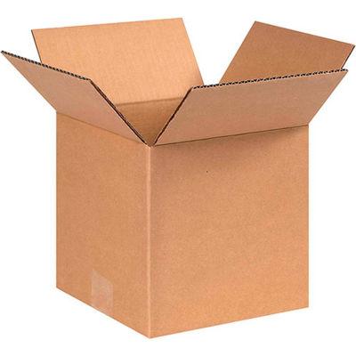 "200#/ECT-32 Cube Cardboard Corrugated Boxes, 8""L x 8""W x 8""H, Kraft - Pkg Qty 25"