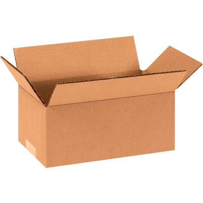 "Long Cardboard Corrugated Boxes 9"" x 4"" x 4"" 200#/ECT-32 - Pkg Qty 25"
