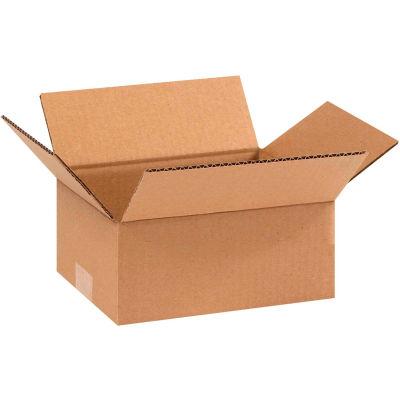 "Flat Cardboard Corrugated Boxes 9"" x 7"" x 3"" 200#/ECT-32 - Pkg Qty 25"