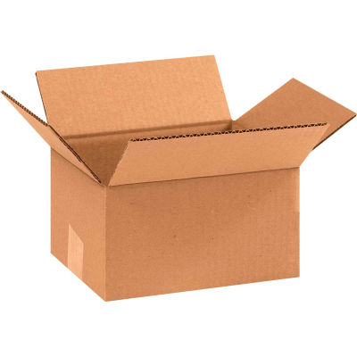 "Cardboard Corrugated Boxes 9"" x 7"" x 5"" 200#/ECT-32 - Pkg Qty 25"