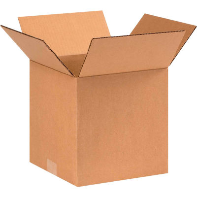 "Cube Cardboard Corrugated Boxes 9"" x 9"" x 9"" 200#/ECT-32 - Pkg Qty 25"