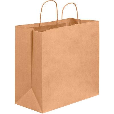 "Paper Shopping Bags, 13""W x 7""D x 13""H, Kraft, 250 Pack"