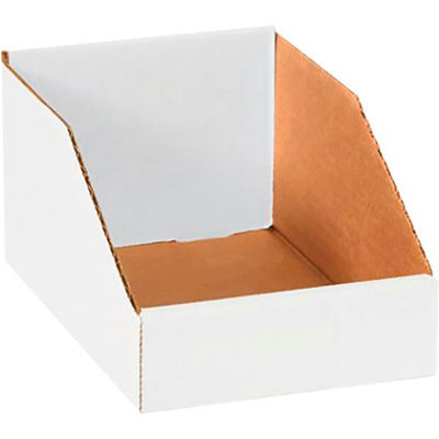 """Global Industrial™ 6"""" x 9"""" x 4-1/2"""" Open Top Corrugated Bin Boxes - Pkg Qty 50"""