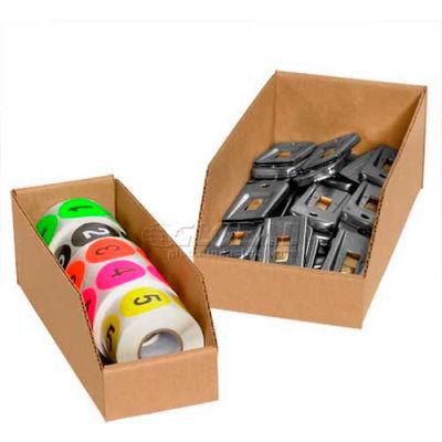 """8"""" x 18"""" x 4-1/2"""" Kraft Corrugated Open Top Bin Boxes - Pkg Qty 50"""