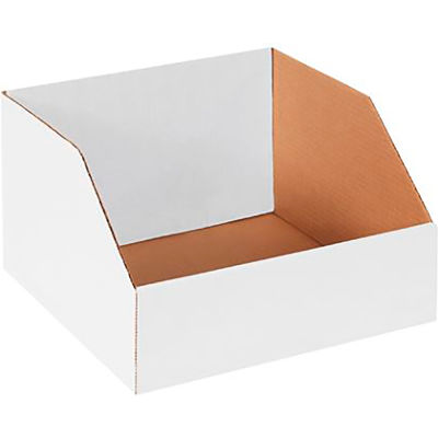 "12"" x 12"" x 8"" Jumbo Open Top White Corrugated Boxes - Pkg Qty 25"