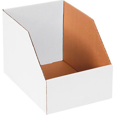 """Global Industrial™ 8"""" x 12"""" x 8"""" Jumbo Open Top White Corrugated Boxes - Pkg Qty 50"""